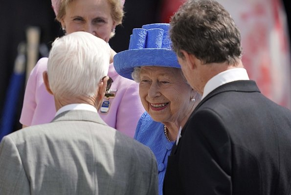 Queen Elizabeth II and Princess Alexandra attended the second day of the 2019 Investec Derby Festival