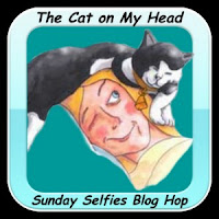 The Cat on My Head--Sunday Selfies Blog Hop badge