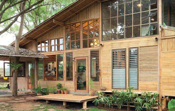 9200 Koleksi Gambar Rumah Dinding Bambu Terbaik