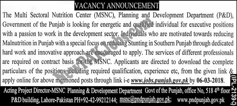 New Jobs In Govt Of Punjab
