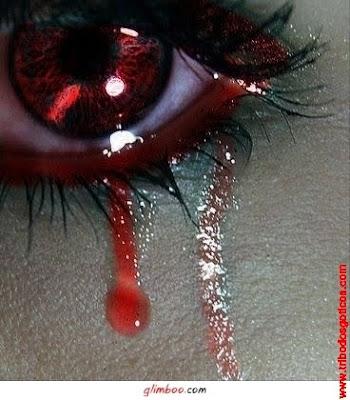 lagrimas de sangue olho vermelho chorando triste