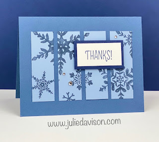 "Stampin' Up! Snowflake Wishes ""Cut Apart"" Card ~ www.juliedavison.com #stampinup"