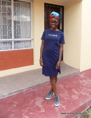 t-shirt dress sneakers turban audrey masitsa 2