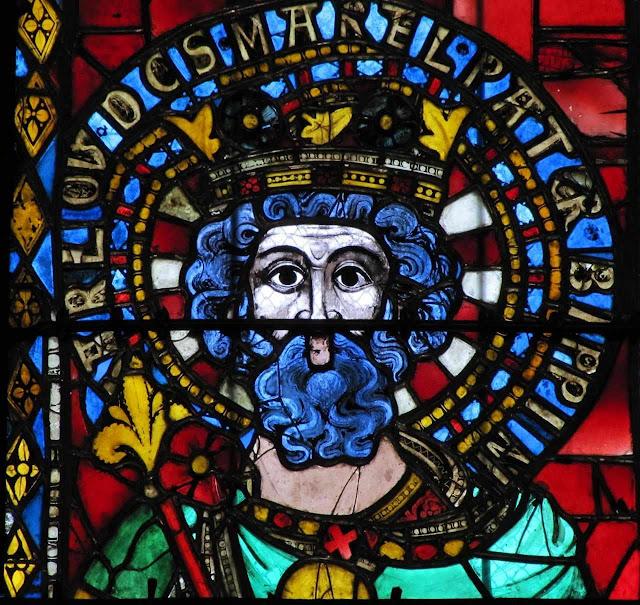 Carlos Martel, vitral da catedral de Estrasburgo