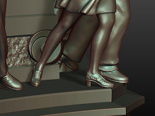 Details of sculptures of lower pairs - legs and shoes - 2