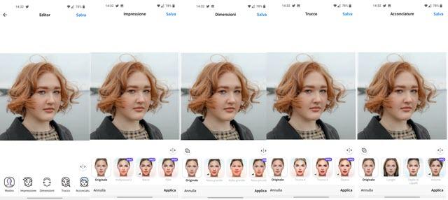 strumenti di faceapp android