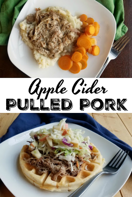 This apple cider pulled pork is a delicious twist on a family favorite. The house will smell so good the whole time it cooks too!