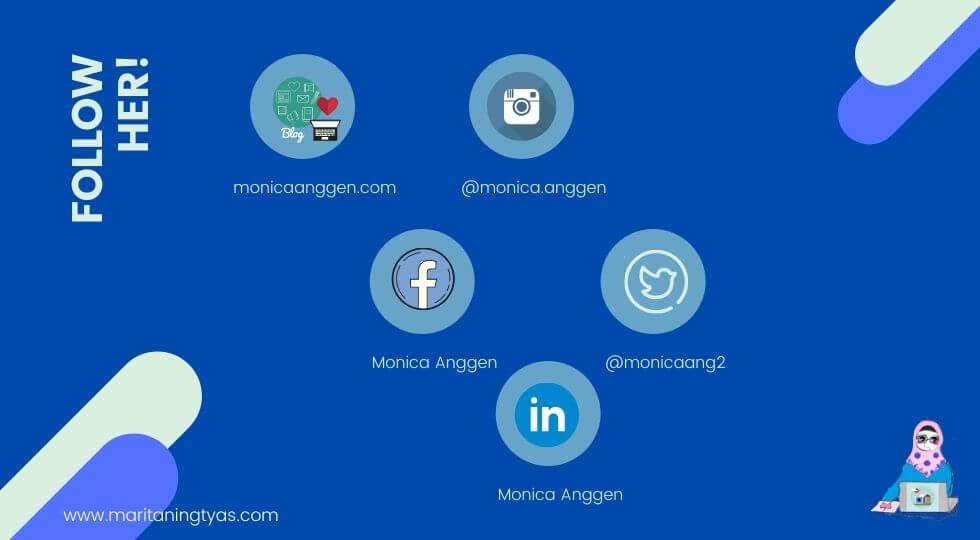 medsos dan blog mbak Monica Anggen