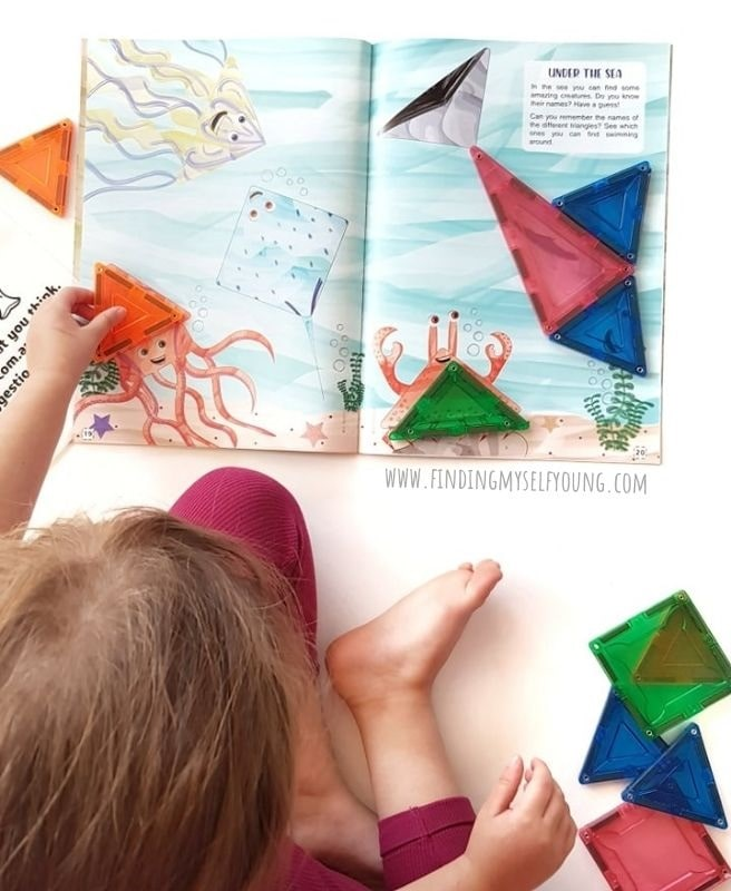 magblox activity book under the sea page