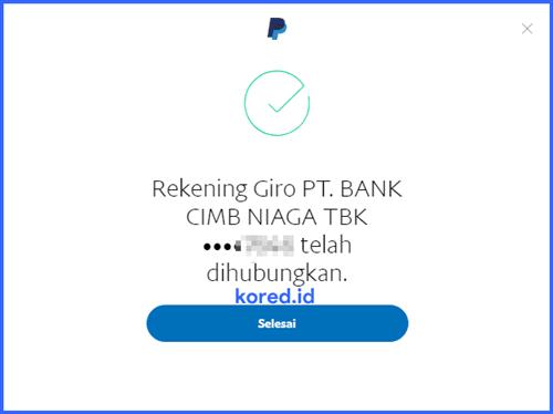 rekening bank berhasil ditambahkan
