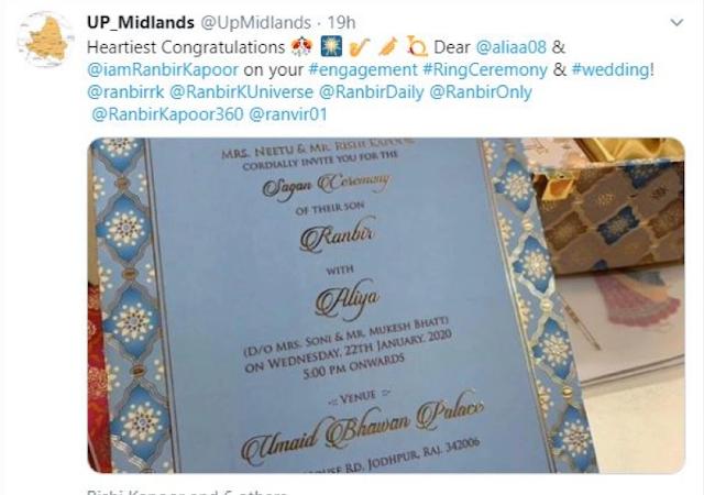 alia ranbir wedding card