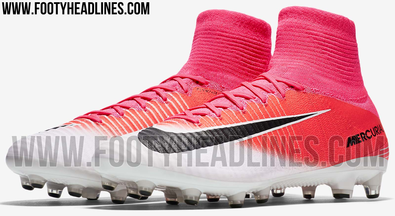 Mercurial Soccer Cleats Shoes White And Pink