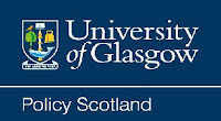 Policy Scotland logo with University of Glasgow crest