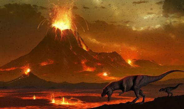 núi lủa gây bụi bao phủ trái đất