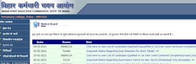 Bihar SSC Urdu Anuvadak Result 2021 BSSC उर्दू Anuvadak परिणाम 2021