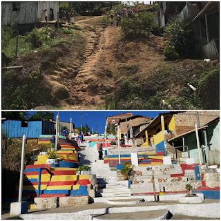 Una: Inauguração da escadaria que une soluções em urbanismo, sustentabilidade e arte