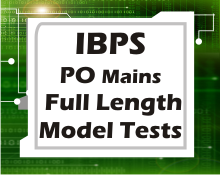 IBPS PO mains full length tests