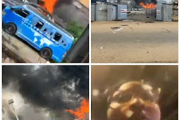 Hoodlums  Invades TVC Premises, Set Cars and Other Properties On Fire (photos/video)