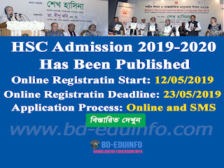 HSC Admission 2019-20 Circular Has Been Published