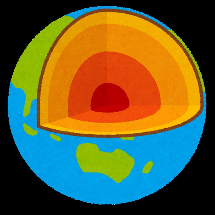 地球の断面図のイラスト かわいいフリー素材集 いらすとや