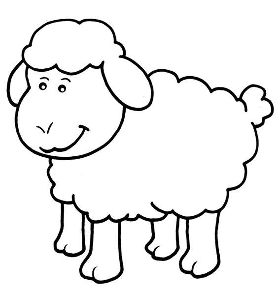 Hình tô màu con cừu