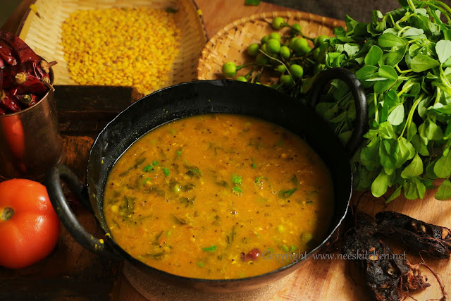 Sundaikkai & Methi Leaves Sambar
