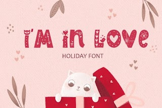 I Am In Love Typeface Color Font
