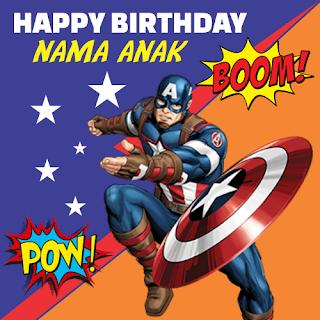Download banner ulang tahun captain america