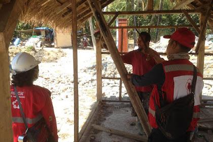 Berdayakan Masyarakat Lombok, Begini Cara PMI Bikin Prototype Hunian Sementara