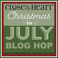 Christmas in July Blog Hop badge