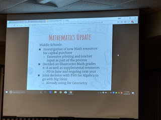 middle school  page of math update