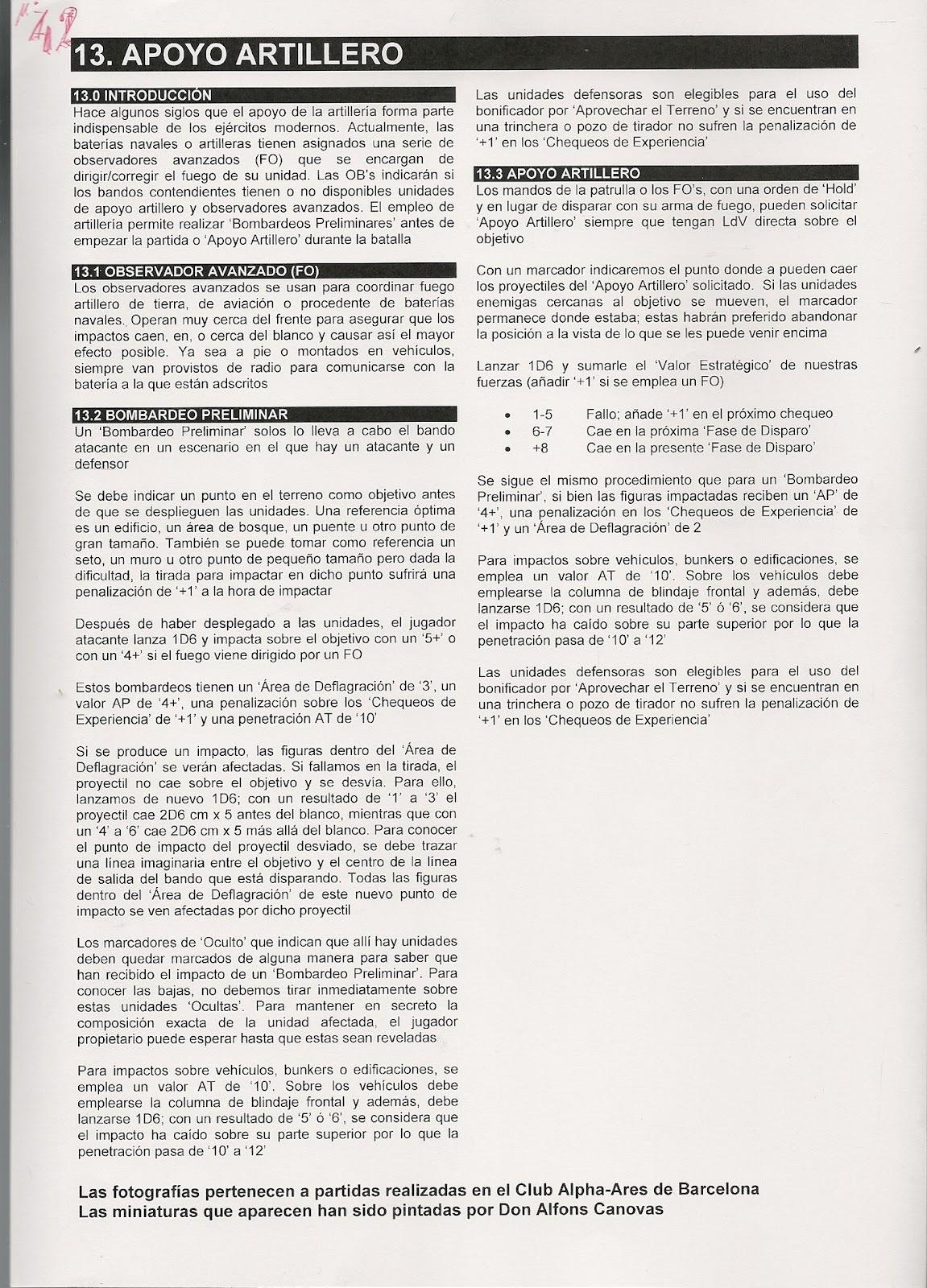 MINIATURAS MILITARES POR ALFONS CÀNOVAS: REGLAMENTO de la