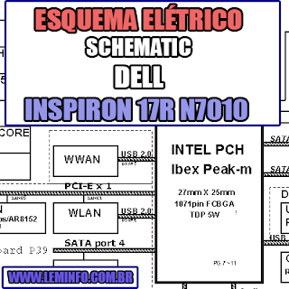 Esquema Elétrico DELL Inspiron 17R N7010 Laptop Notebook Manual de Serviço - Schematic service manual