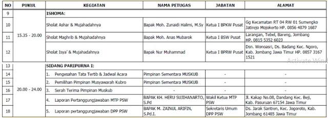 Jadwal Acara Musyawarah Kubro Wahidiyah VIII - 2021