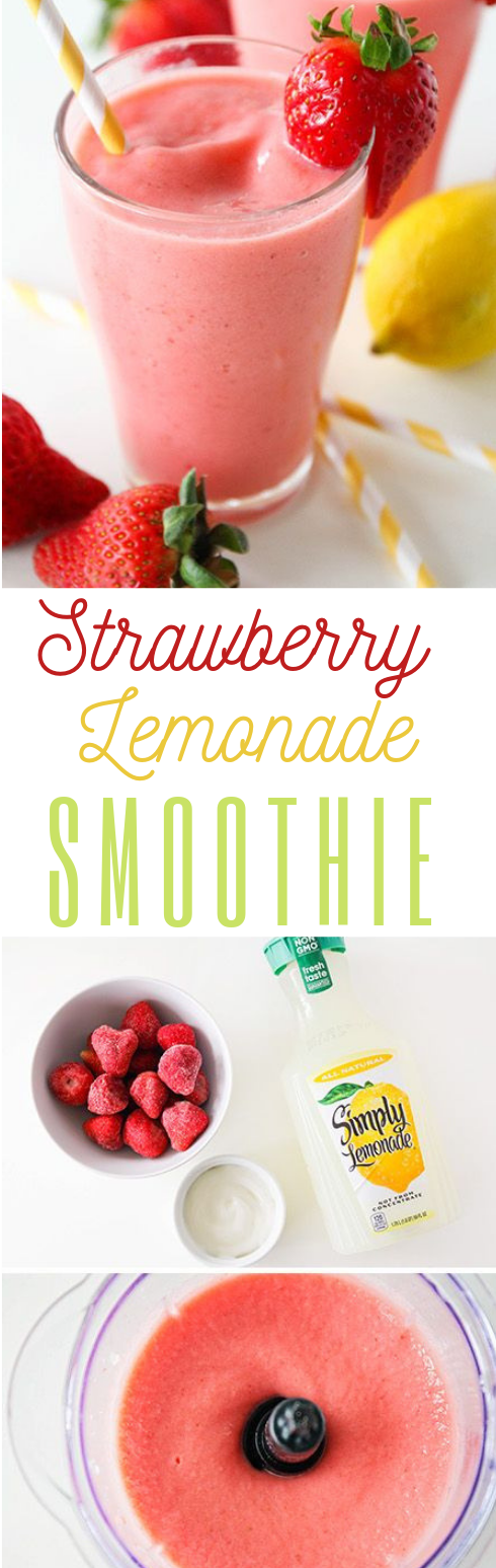 Strawberry Lemonade Smoothie #recipe #smoothie