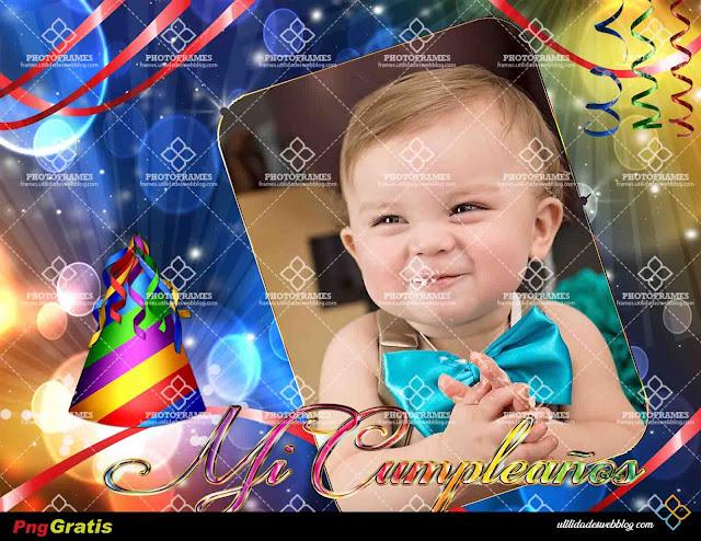 Hermoso marco digital de cumpleaños