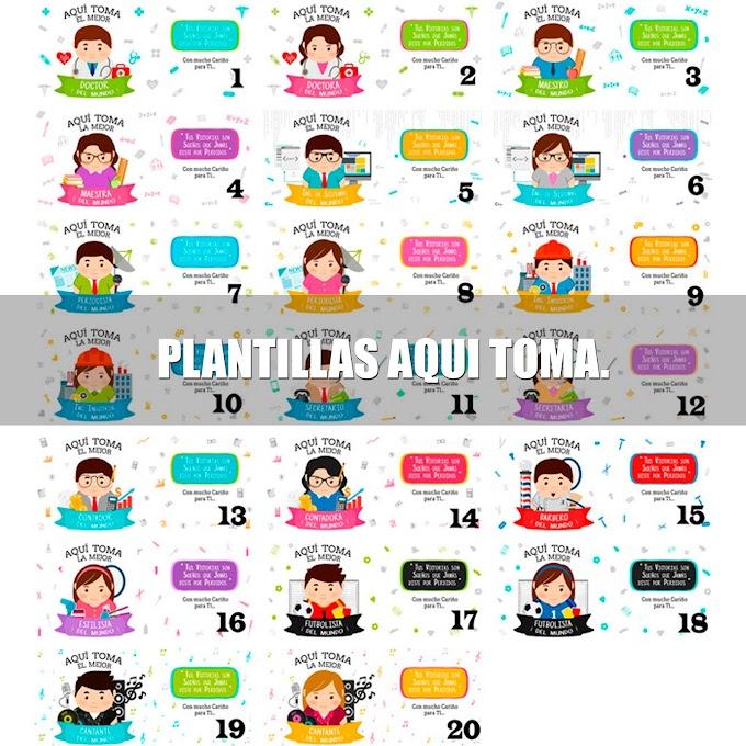 ☕ PLANTILLAS PARA SUBLIMAR TAZAS RECTAS | AQUI TOMA