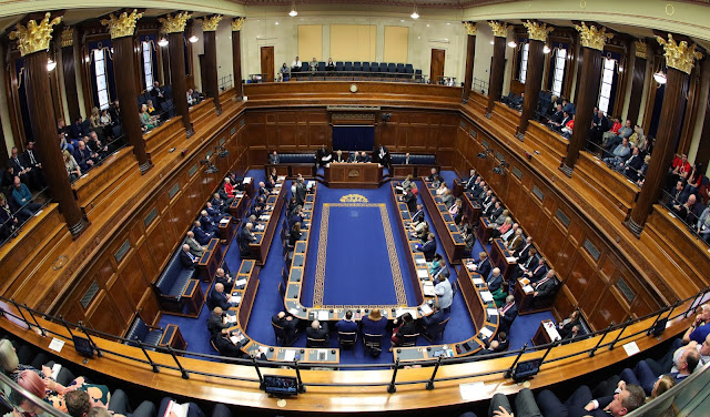 Picture of the Assembly Chamber taken during a Plenary session in January 2020