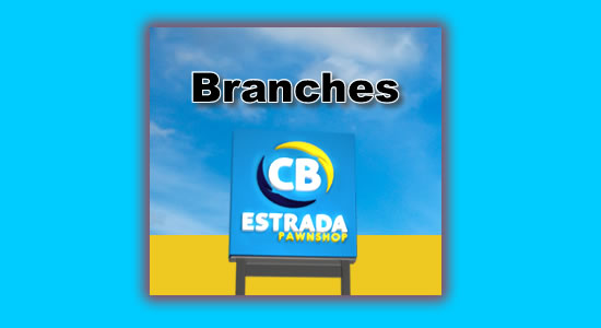 List of CB Estrada Pawnshop Branches