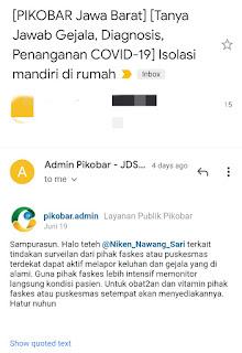 Jawaban dari admin Pikobar