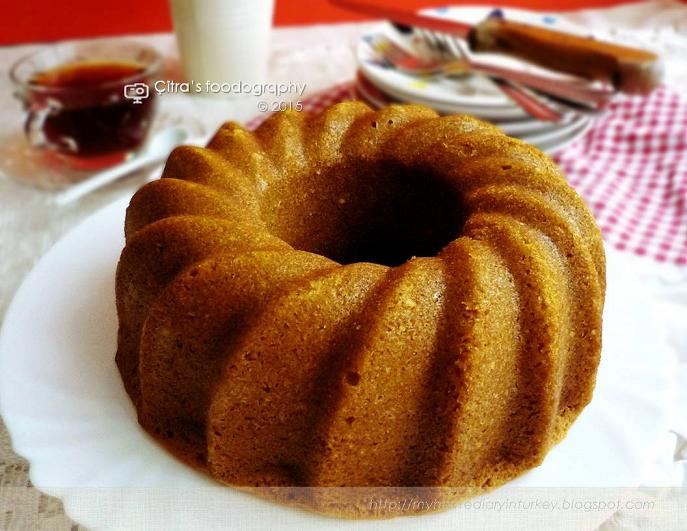 Small Coffee Cake Made With Sour Cream And Cinnamon