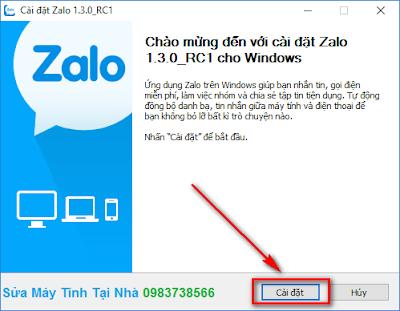 Hướng dẫn cài đặt Zalo cho PC