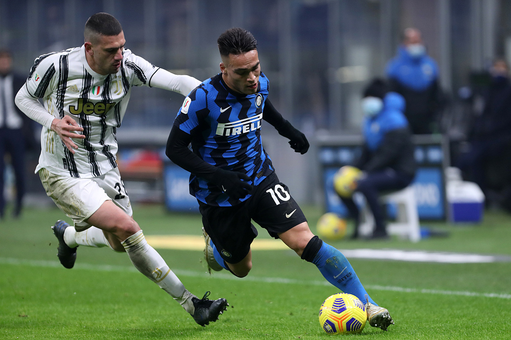 Inter, con Lautaro Martínez, visita a Juventus con la misión de avanzar a la final de la Copa Italia