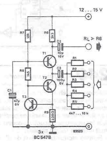Very Simple Audio Mixer Circuit Electronic Circuit