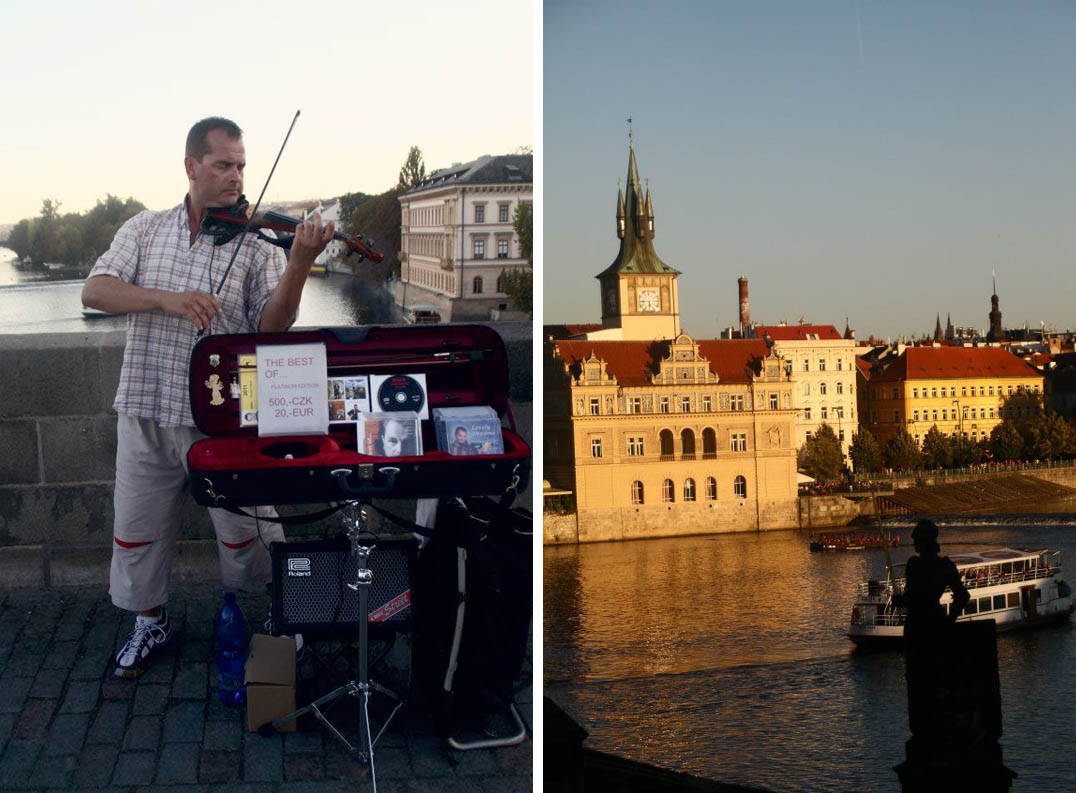 music charles bridge, cruise vtlava