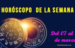 ✨ Horóscopo de la semana: Del 07 al 13 de marzo