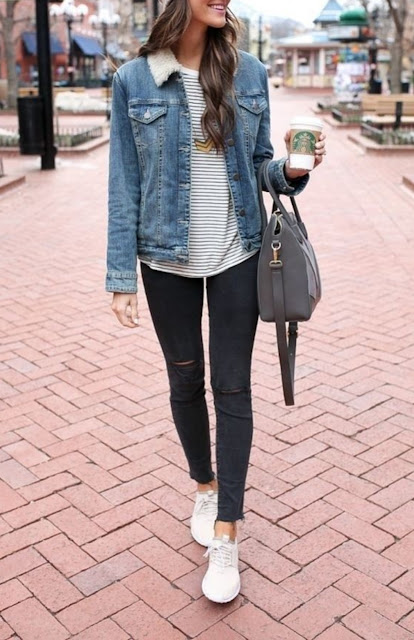 How To Wear Denim Jackets with Jeans