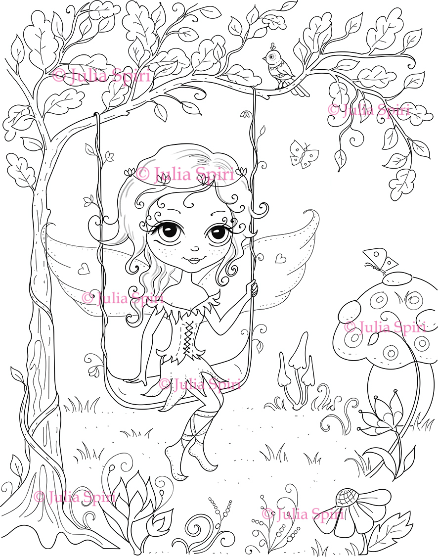 Whimsical designs coloring book - I Drawed 2 Images Exclusively For Coloring Book I Will Not Sell This Images On Etsy Shop The First Image Called Whimsical Fairy