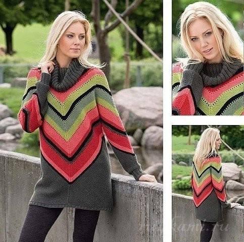 sweter ze wzorem po rosyjsku