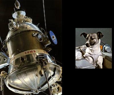 Resultado de imagen para 3 de noviembre dia La perra Laika, a bordo del Sputnik II, alcanza el espacio
